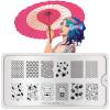 Stempelplaat Moyou Suki, meisje met japanse parasol