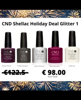 CND Shellac holiday Glitter kit 1