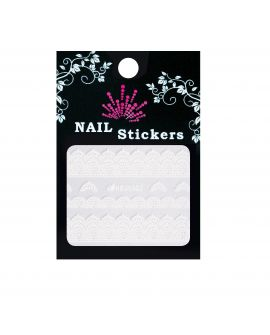 Bell'ure Nail Sticker Witte kant