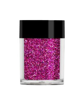 Lecenté Darkest Pink holographic glitter