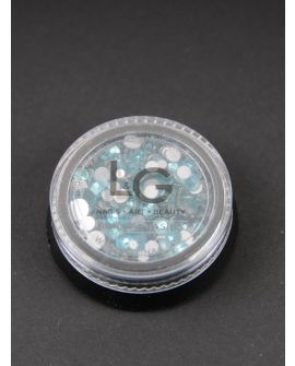L&G Strass Light Blue 300pcs size 4