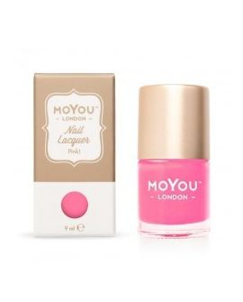 Pink! Stamping Nail Polish
