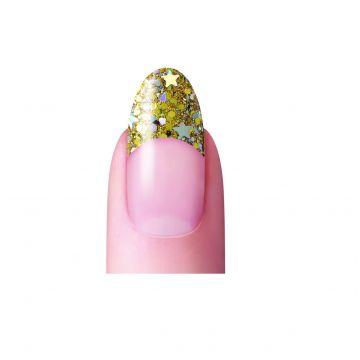 Dashing Diva No Blend Gold Glitter Tip