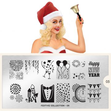 MoYou Festive 05 Stamping Plates (New Year)