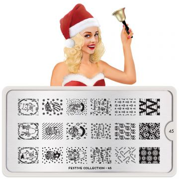 MoYou Festive 45 Stamping Plates (Christmas)