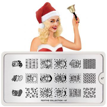 MoYou Festive 47 Stamping Plates (Christmas)