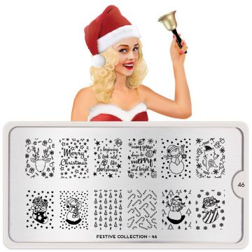 MoYou Festive 46 Stamping Plates (Christmas)