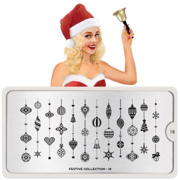 MoYou Festive 18 Stamping Plates (Christmas)
