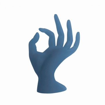 Bell'ure Glazen Hand Blauw