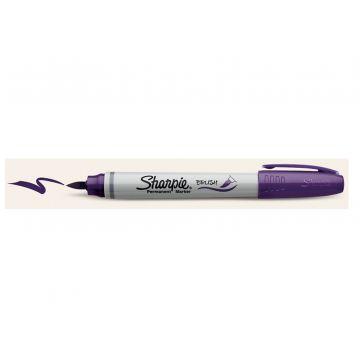 Sharpie Brush Purple