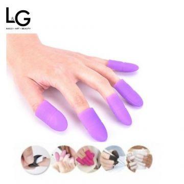 Bell'ure Soak Off Soft Silicone Caps Purple 5p