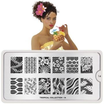 MoYou Tropical 14 Stamping Plates