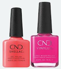 CND Summer City Chic Bottles, Shellac en Vinylux